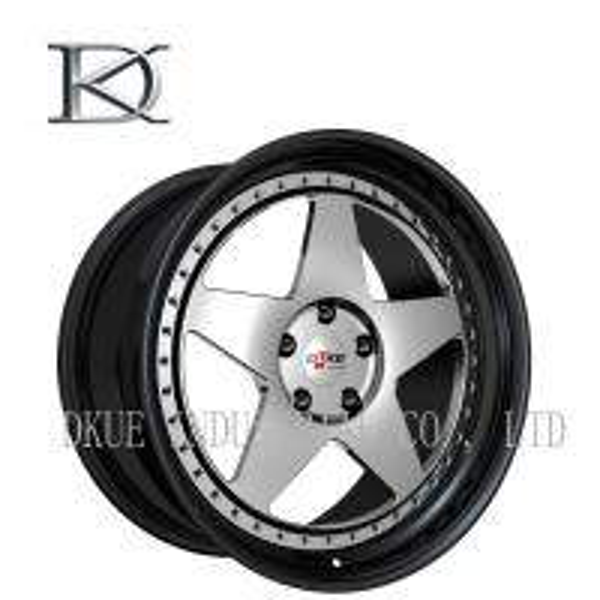 Deep Dish 5 Spoke Concave Wheels With Lip , Black Concave