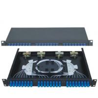 China 19''Standard Structure SC24 Rack-Mounted  Fiber Optic Patch Panel  Terminal Box on sale