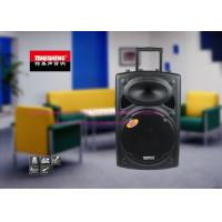 Cheap 15Inch Trolley Portable Battery Powered Speakers / Powered DJ Speakers wholesale