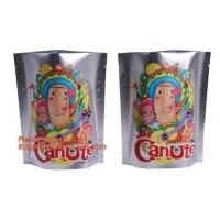 China Foil Ziplock Stand Up Plastic Pouches Packaging Matte Finish 250g 500g Metalized on sale