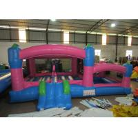 Cheap Kids Outdoor Custom Made Inflatables Bounce House Combo 0.55mm Pvc Tarpaulin wholesale