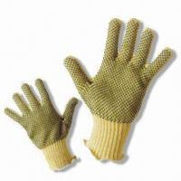 Quality PVC Dot Kevlar Glove with Anti-skid Cutting Function for sale