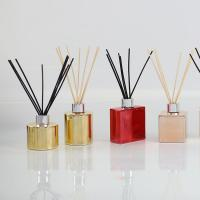 Cheap Electroplating Bottle Home Scent Diffuser / Luxury Reed Diffuser With Customized Box wholesale