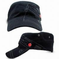 Cheap Stylish Army Cap, Made of Cotton Material, with Silver-colored Metal Buckle on Back wholesale