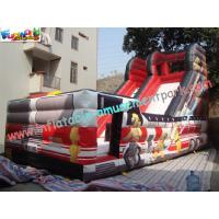 Cheap Outdoor Large 0.55mm PVC tarpaulin Inflatable Commercial Inflatable Slide for Kids Playing wholesale