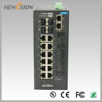 Cheap Fast 28 Port Switch , Fanless Gigabit Switch 14 electric port + 4 FX +4 Gigabit SFP FX Fiber optical wholesale