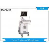 Cheap Black And White Ultrasound Machine Trolley With Convex Probe For Pregnancy wholesale