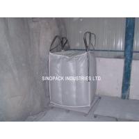 Cheap Sift-proofing 4-Panel baffle bag , Industrial 1 Tonne Bulk Bags with filler cords wholesale