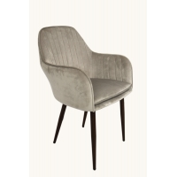Cheap Dining Fabric Accent Chair Velvet With Wood Grain Heat Transfer Printing wholesale