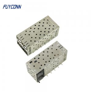 Cheap Modular 80pin 2*2 4 Port Press Fit Transceiver SFP Cage Connector wholesale