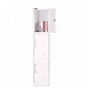 Cheap Three Tier Door Metal Steel Lockers For Home Company Staff Students wholesale