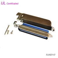 Cheap Amphenol 2.16mm Pitch 64 Pin Male Centronic IDC connector with Side Entry metal cover wholesale