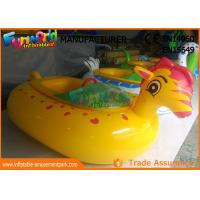 Cheap Adult Electric Inflatable Boat Toys , Animal Shape Motorized Inflatable Bumper Boats wholesale