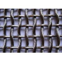 China Architectual Decorative Wire Mesh Fence Panels , Stainless Steel Woven Wire Mesh on sale