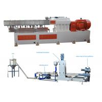 Cheap PP Caco3 Double Screw Extruder Granulation Machine Water Ring Cutting System wholesale