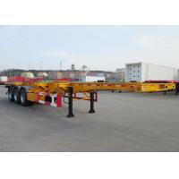 Cheap CIMC tri axle 40 foot skeleton container trailers chassis 20 foot skel container truck and trailer for sale wholesale