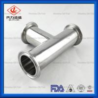 Cheap Sanitary Stainless Steel Quick Clamp Tube Fittings Series  Tee  Cross wholesale