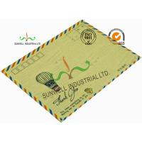 Cheap Standard Size Kraft Paper Custom Printed Envelopes With UPC Barcode Printing Edge wholesale