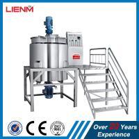 Cheap 200L 300L 500L1000L Liquid Soap Detergent Double Jacketed Heating Mixing Tank With Agitator wholesale