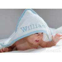 Cheap Durable White Hooded Baby Towels Embroidered For Family 350gsm for sale
