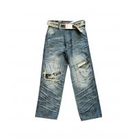 Cheap High quality girls jeans children jeans wear for 6 - 16y with Casual hot bead design wholesale