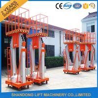 Buy cheap 200kg 10m Movable Aerial Work Platform Lift , Hydraulic Safety Work Platform Rental from wholesalers