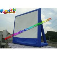 Cheap 11 x 10 Dark Blue Inflatable Movie Screen , Inflatable Projector Screens / Theater wholesale