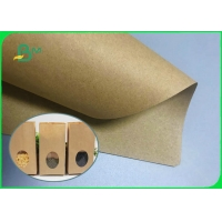 China Customized Size Brown Kraft Paper Roll 70gr - 300gsm For Shopping Bag on sale