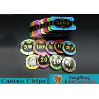 Difficult To Distort Authentic Casino Poker Chips, Crystal Dice Poker Chips