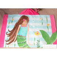 60*120cm Lightweight Hooded Poncho Towels For Children Easy Dry