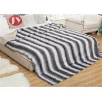 Cheap Custom Size 100% Polyester PV Fur Blanket Printed Thick Faux Brown King Size For Home wholesale