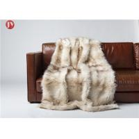 Cheap Wild Fox Mink Throw Blanket Lodge Cabin Cottage Rustic Sofa Dry Clean wholesale