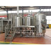 Cheap Steam / Gas Heated Brewhouse Beer Brewing Machine Semi Automatic Control wholesale