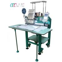 Cheap Single Head Cap / Shirt / Flat Computer Embroidery Machine With Single Sequin Device wholesale