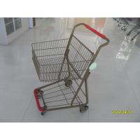 Cheap 40L Folding Grocery Shopping Trolley Q195 Low Carbon Steel For Supermarket wholesale