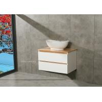 Cheap Timber Countertop Single Bowl Bathroom Vanity DTC Metal Runners 800*510*500mm wholesale
