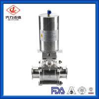 Cheap 3PC  Hygienic Ball Valve Low Pressure PTFE Sealing High Polished Dust Proof wholesale