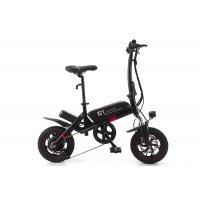 Cheap Portable Lithium Electric Bike , Small Foldable Electric Bike With Aluminum Alloy Wheel wholesale