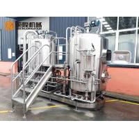 Cheap Semi Automatic Stainless Steel Beer Brewing Equipment , Micro Brewery Equipment wholesale