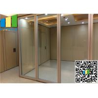 Cheap Sliding Aluminum Glass Partition Wall , 10mm Tempered Glass Wall Partition for sale