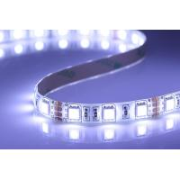 Cheap Offices IP65 Low Voltage Led Strip Lights , 120° Angle RGB 5050 Led Strip wholesale
