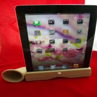 Cheap Mini Ipad Silicone Skin Case Iphone Silicone Speaker Horn Stand , Hands-Free wholesale