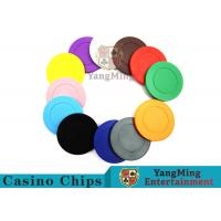Cheap Roulette Dedicated Solid Color Plastic Poker Chips With Customized Print Logo wholesale