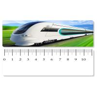 Cheap 5.4x31cm High - Speed Train 3D Lenticular Ruler PET Material For Student Stationery wholesale