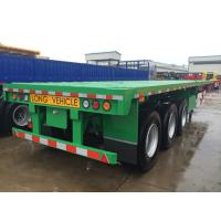 Cheap multi axel trailer 40 tons capacity 20 foot flatbed trailer for sale  - CIMC VEHICLE wholesale