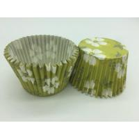 Cheap Green White Flower Greaseproof Cupcake Liners Disposable Mini Baking Tools Cake Decoration wholesale