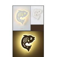 Cheap IP40 3000K Fish Acrylic LED wall light /indoor led wall lamp for Children rooms wholesale