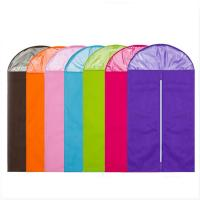 Cheap Colorful Cloth Hanging Garment Bags , Foldable Hanging Wardrobe BagFor Overcoat wholesale