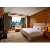 Cheap 5 Star Hotel Bedroom Furniture King Size Wooden Material OEM Service wholesale
