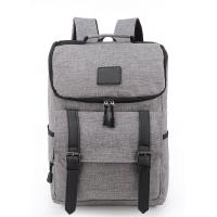 Cheap Portable Laptop Travel Bag , Grey Computer Bag Backpack Style 32*43*17 Cm wholesale